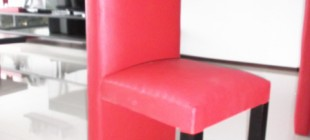 Fauteuil cuir rouge